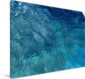 Bovenaanzicht van een heldere zee Canvas 140x90 cm - Foto print op Canvas schilderij (Wanddecoratie woonkamer / slaapkamer)