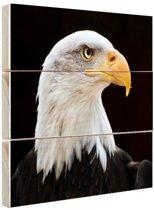 Adelaar close-up foto Hout 120x80 cm - Foto print op Hout (Wanddecoratie)
