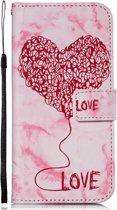 Samsung Galaxy S8 Plus Bookcase hoesje Love hart (roze)