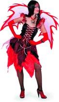 Fee jurk feetje rood - zwart Maat 42
