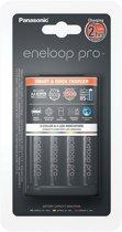 Panasonic Eneloop Smart & Quick Lader BQ-CC55 + 1x4 AA 2500mAh