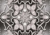 Fotobehang Abstract Modern Design Pattern Flowers | L - 152.5cm x 104cm | 130g/m2 Vlies