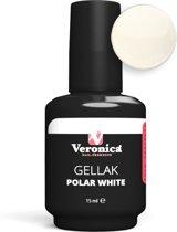 Veronica NAIL-PRODUCTS Gel nagellak POLAR WHITE, Gel Polish, perfect nagels lakken met gel en nagellak in één!