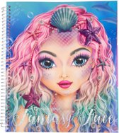 TOPModel Create Your Fantasy Face Colouring Book