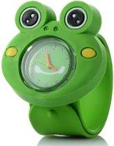 Kinderhorloge - Siliconen -  Kikker - 20mm - Groen