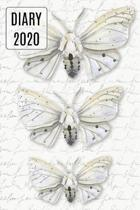 2020 Daily Diary Journal, Pretty Moths