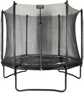 Trampoline 244 cm (8ft) met veiligheidsnet - Black Edition - zwarte rand