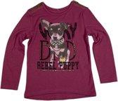 Knot so Bad-meisjes-shirt/longsleeve-Very Bad Rebel Puppy-kleur: paars-maat 110