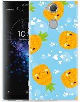 Sony Xperia XA2 Plus Hoesje Love Ananas
