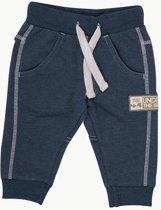 Minymo - baby sweat broek - blauw - Maat 74