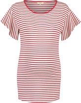 Noppies Shirt Olivia - Crimson Stripe - Maat XXL