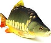 Kussen vis - Karper - Meerkleurig - Vismodel kussen - Groot formaat - Sierkussen - 90 cm