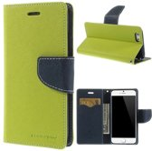 Origineel Mercury Goospery groene wallet Bookcase hoesje iPhone 6 6s lederen - portemonnee