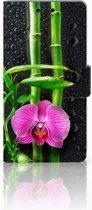 Sony Xperia M4 Aqua Boekhoesje Design Orchidee