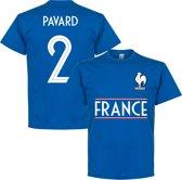 Frankrijk Pavard 2 Team T-Shirt - Blauw - S