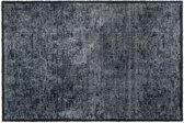 MD-Entree Vloerkleed/Deurmat Soft&Deco Velvet Antraciet 67 x 100 cm