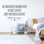 Muursticker De Mooiste Momenten In Het Leven Zijn Die Hele Kleine Geluksmomentjes -  Oranje -  160 x 100 cm  - Muursticker4Sale