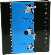 GOLDBUCH GOL-27267 Kinderalbum CRAZY ANIMALS zwart/blauw als fotoboek