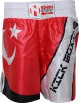 Nihon Kickboks Broek Turkije Heren Rood/wit Maat Xxl