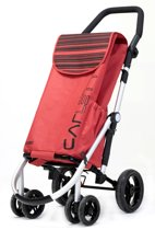 Carlett Lett 460 Boodschappentrolley - 40 L - 4 wielen - opvouwbaar - koelvak - veiligheidsrem - rood