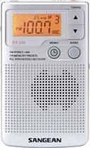 Sangean DT-250 - Draagbare radio - Zilver