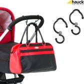 Hauck Hook Me - Tashaken voor Kinderwagen - Zwart