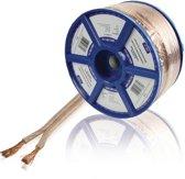 Valueline luidspreker kabel 2 x 4.00 mm² 100 m transparant