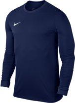 Nike Dry Top Sportshirt LS Heren - Midnight Navy/White