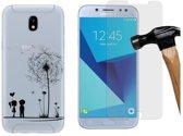 MP Case glasfolie tempered screen protector gehard glas voor Samsung Galaxy J5 (2017) + Gratis Love TPU case hoesje voor Samsung Galaxy J5 (2017)