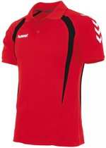 hummel Team Polo Junior Sportpolo - Rood - Maat 128