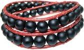 Bela Donaco  Heren armband classic Black Onyx - African red