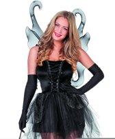 Vlinder jurk zwart met vleugels maat 38