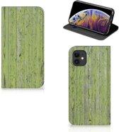 Apple iPhone 11 Book Wallet Case Green Wood