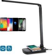 Aigostar Owen LED bureaulamp - Qi draadloos opladen - Tafellamp - Zwart