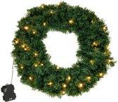 Kerstkrans - Kerstkrans met led verlichting - Verlichte krans - Krans met verlichting 50 cm