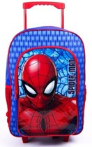 SPIDER-MAN Rugzak Trolley Kinder Koffer Rugtas Logeren School Tas SPIDERMAN