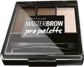 Maybelline Master Brow Design Kit - NU 4 Deep Brown - Wenkbrauw palette