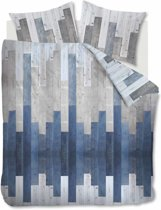 At Home See - Dekbedovertrek - Eenpersoons - 140x200/220 cm - Blauw Grijs
