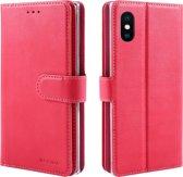 Xssive Double Wallet Case voor Apple iPhone XS Max - geschikt voor 6 pasjes - Pink