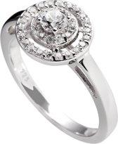 Diamonfire - Zilveren ring met steen Maat 19.5 - Classics - Zirkonia - Entourage - Rond