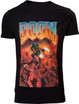 DOOM - Classic Boxart - Crewneck Heren T-shirt - 2XL