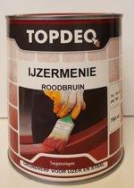 Topdeq Ijzermenie - Metaal - Grondverf - Primer -  Mat - Roodbruin - 750ml