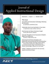 Journal of Applied Instructional Design Volume 6, Issue1