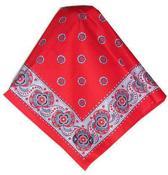 Boerenzakdoek populair rood met motief 53x53cm