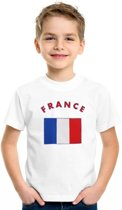 Kinder t-shirt vlag France Xs (110-116)