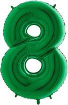 Folieballon cijfer '8 groen (100cm)