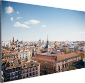 Het centrum van Madrid Aluminium 120x80 cm - Foto print op Aluminium (metaal wanddecoratie)
