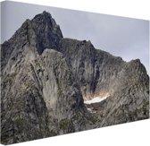 Bergtop Canvas 60x40 cm - Foto print op Canvas schilderij (Wanddecoratie)