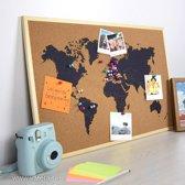 Wereldkaart prikbord Voor Interieur & Reizen Avontuur Kurk