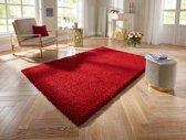 Hoogpolig vloerkleed Talence Elle Decor - rood 80x150 cm